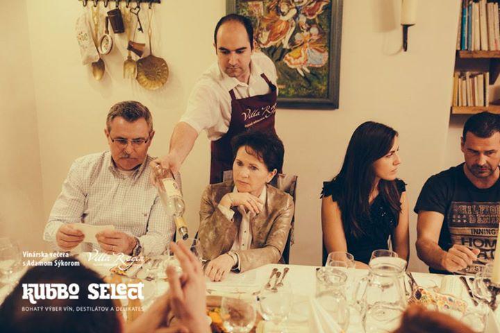Vinárska večera s Adamom Sýkorom vo Villa Regia